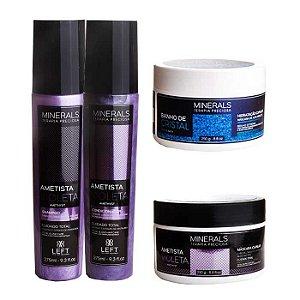 Kit Hidratante Ametista Violeta Home Care (3 itens) + Banho de Cristal 250g