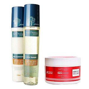 Kit Detox Shampoo e Condicionador 2x275ml + Suflê de Morango Máscara 250g