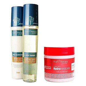 Kit Detox Shampoo e Condicionador 2x275ml + Suflê de Morango Máscara 500gr