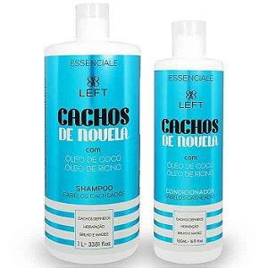 Kit de Shampoo e Condicionador Cachos de Novela Essenciale (2 itens)
