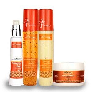 Kit Home Care Papaya, Creatina e Queratina Fruit Therapy Nano (4 itens) Cabelo Danificado
