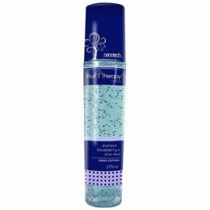 Shampoo Blueberry e Aloe Vera Fruit Therapy Nano 275ml Cabelo Volumoso