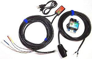 Kit - Contador de voltas USB óptico com comando
