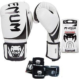 Kit Boxe e Muay Thai Venum Challenger 2.0 - BRANCO