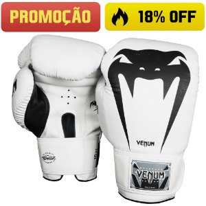 Luva de Boxe Venum Giant Brasil - BRANCA