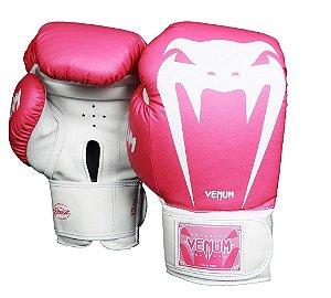 Luva de Boxe Venum Giant Brasil - ROSA