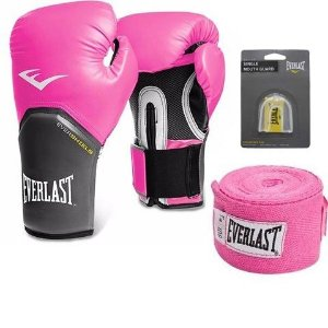 Kit Boxe Pro Style Rosa Everlast