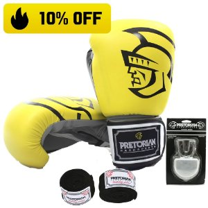 Kit Boxe e Muay Thai Pretorian Trainning - AMARELO