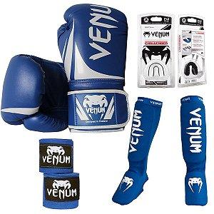 Kit Muay Thai Venum Challenger AZUL