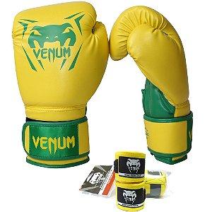 Kit Boxe Venum New Contender - AMARELO