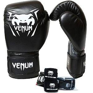 Kit Boxe Venum New Contender - PRETO