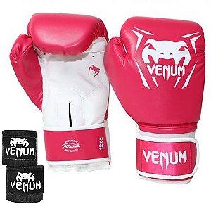 Kit Boxe Venum New Contender - ROSA