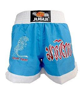 Short de Muay Thai Jugui - AZUL E BRANCO
