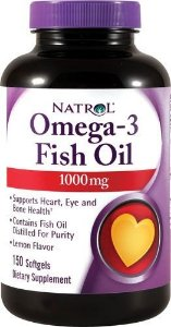 Ômega 3 Fish Oil 1000mg (120 softgels) Natrol