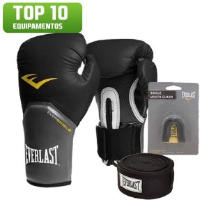 Kit Boxe Pro Style Preto Everlast