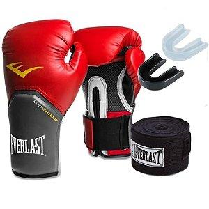 Kit Boxe Pro Style Vermelho Everlast