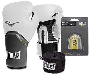 Kit Boxe Pro Style Branco Everlast