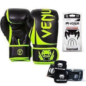 Kit Boxe Venum Challenger VERDE/PRETO