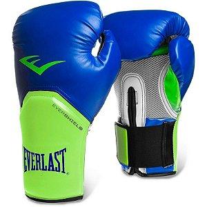 Luva de Boxe Pro Style Elite Everlast - AZUL/VERDE
