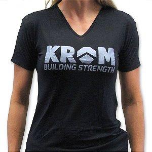 Camiseta Feminina Dry Fit Krom Suplementos
