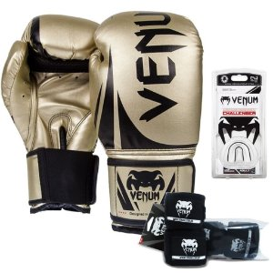 Kit  Boxe Venum Challenger - DOURADA