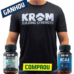 Comprou Multi Way + BCAA Ganhou Camiseta Dry Fit Krom Suplementos