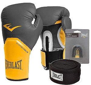 Kit Boxe Pro Style Amarelo Everlast