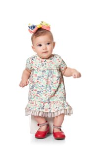Vestido Kiko & Kika Babados Jardim Baby