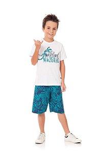 Conjunto Kiko & Kika Camiseta NewZealand e Bermuda Tactel
