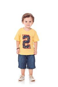 Conjunto Kiko & Kika Camiseta Sport e Bermuda Jeans