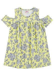 Vestido Brandili Floral Amarelo