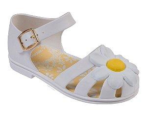 Sandália Pimpolho Colorê Branca Flor