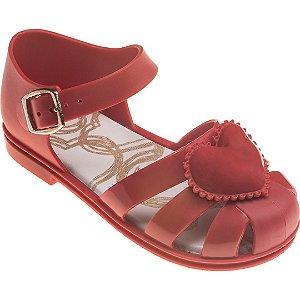 Sandália Pimpolho Colorê Vermelha Coração
