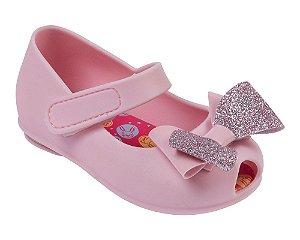 Sapatilha Pimpolho Colorê Baby Rosa Lacinhos Glitter