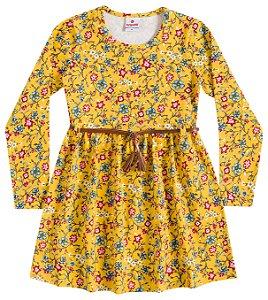 Vestido Brandili Amarelo com cinto