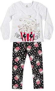 Pijama Brandili Blusa Pipoca e Calça