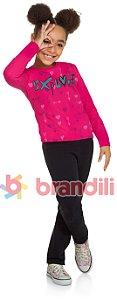 Conjunto Brandili Moletom Explore Rosa e Calça