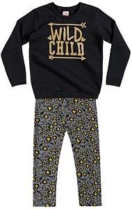 Conjunto Brandili Blusão Child e Legging Cinza