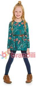 Conjunto Brandili Mini Vestido Raposa e Legging marinho