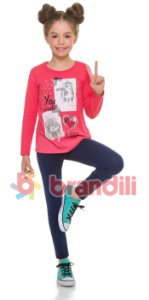 Conjunto Brandili Blusa You e Legging Marinho