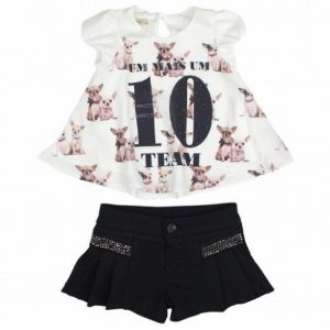 Bata Dogs com Short de Strass 1+1