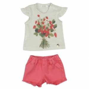 Conjunto Blusa e Short Moranguinho Art Kids