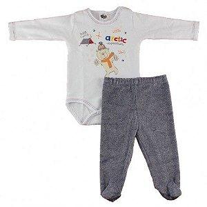 Body Ursinho com calça em plush Bb2