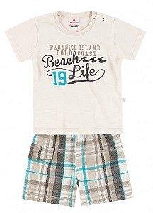 Conjunto Camiseta e Bermuda Xadrez Brandili