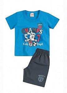 Conjunto Camiseta Champs e Bermuda Brandili
