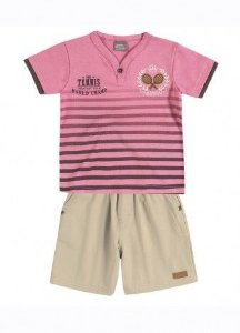 Conjunto Camiseta e Bermuda Tennis Brandili Mundi