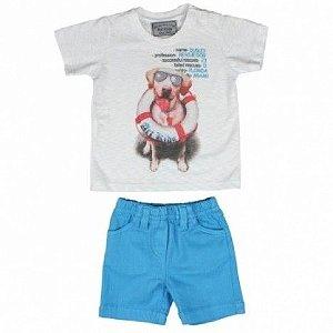 Conjunto Camiseta e Bermuda Dudley Art Kids