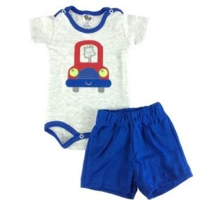 Conjunto Body e Short Carro Girafa Bb2