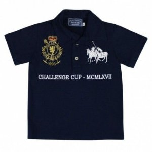 Camiseta Polo Azul Art Kids