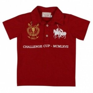 Camiseta Polo Vermelha Art Kids